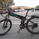 M003 black Folding Mountain Ebike Black