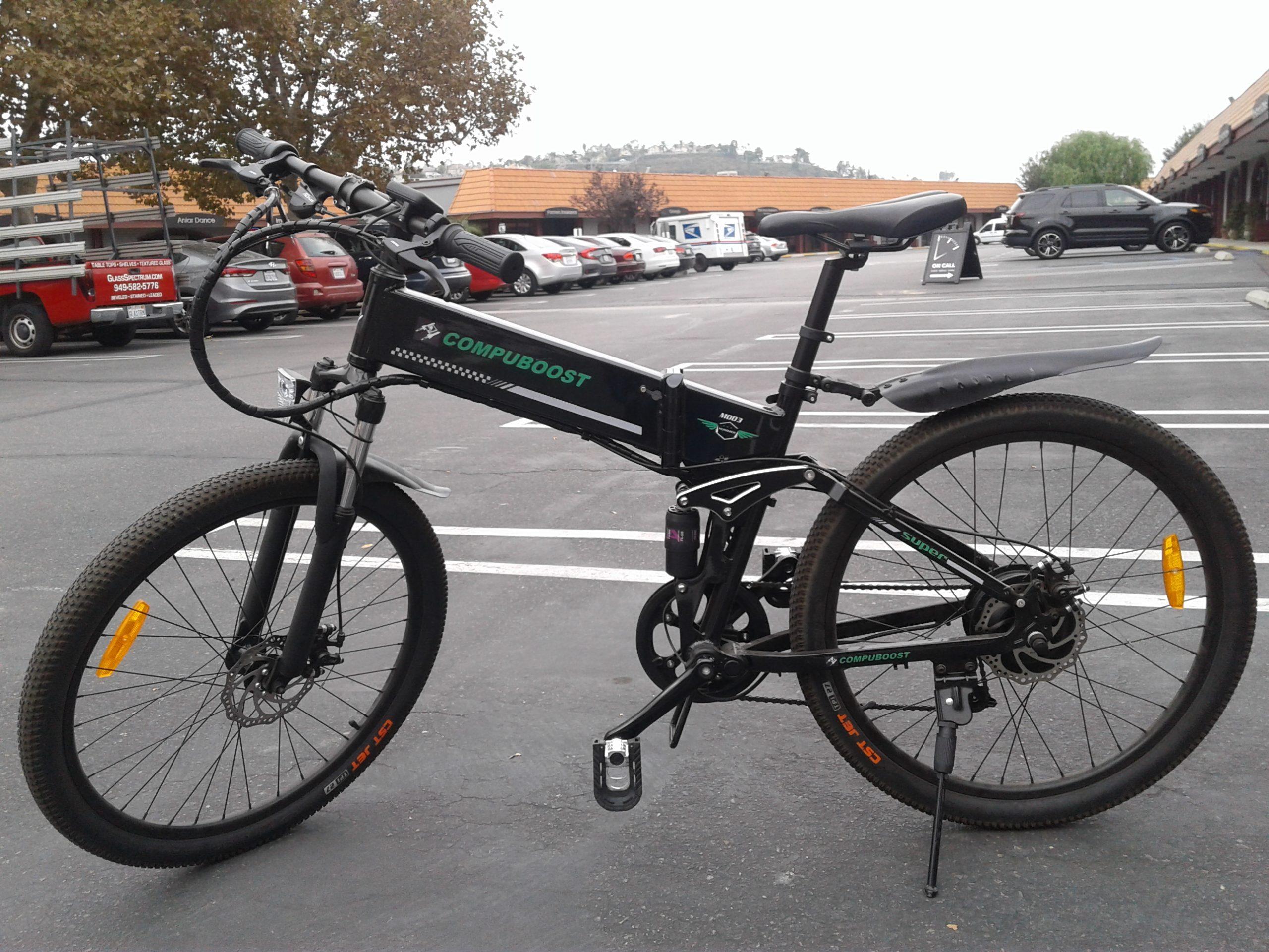 M003 black Folding Mountain Ebike Black scaled