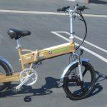 f008 gold compact folding electric bike 16