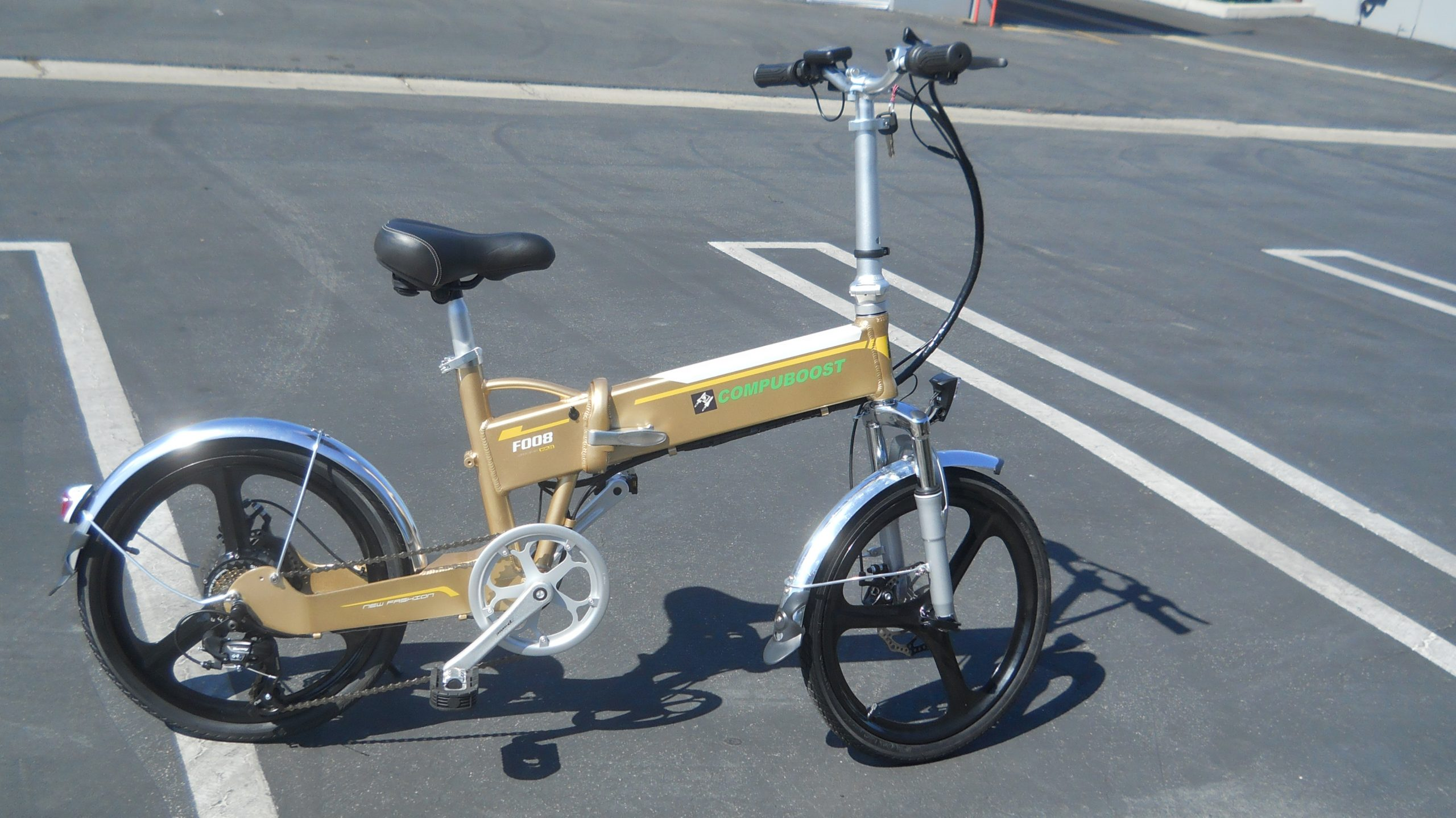 f008 gold compact folding electric bike 16 scaled